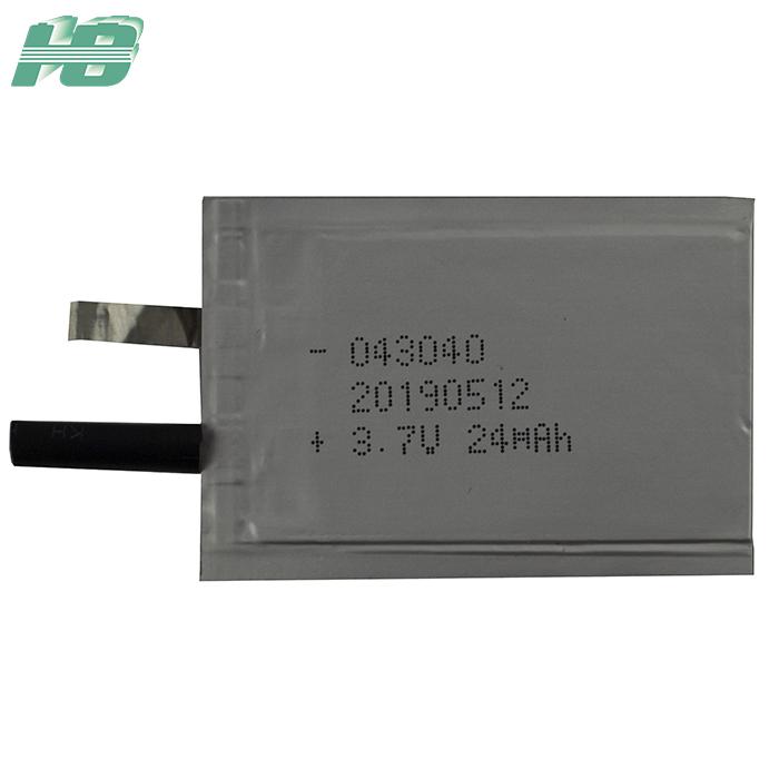 浩博043040超薄<em>电池</em>24mAh厚0.4mm固态<em>电池</em>3.7V异形锂离子电池厂家