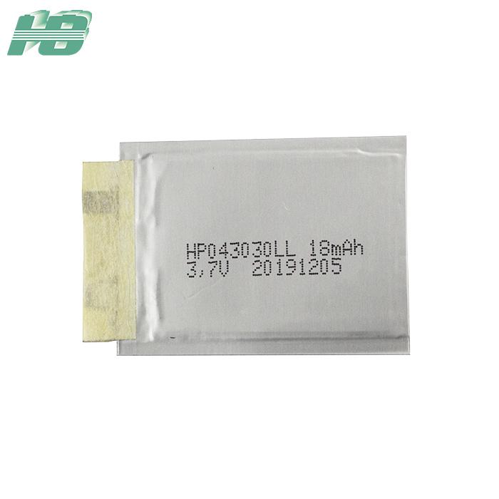 浩博043030超薄<em>电池</em>18mAh厚0.4mm固态<em>电池</em>3.7V异形锂离子电池厂家