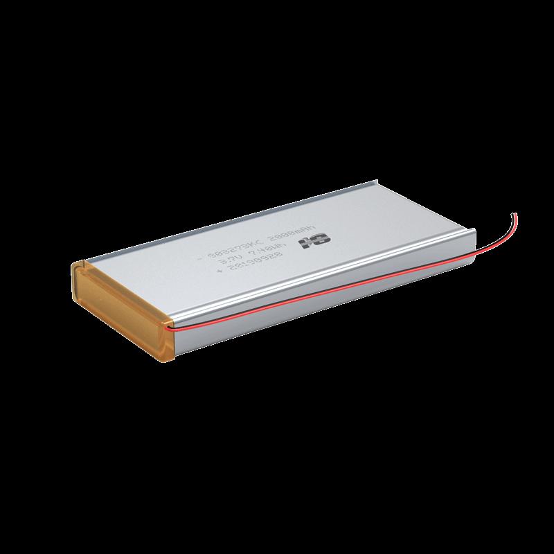3.1V 2000mAh 803273 KC认证 TUV62133 聚合物锂电池