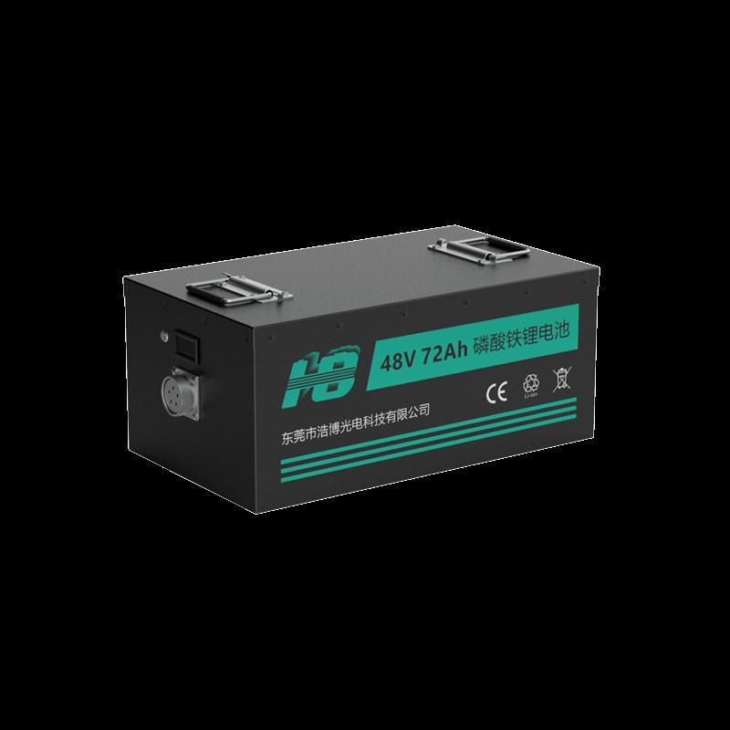46.8V 80Ah 18650 车规级野外巡检机器人三元锂电池 RS485通信