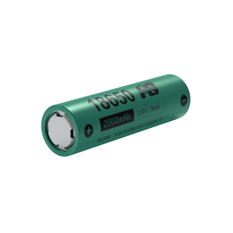 3.6V 2500mAh <em>18650</em> 控制器三元<em>锂电池</em>