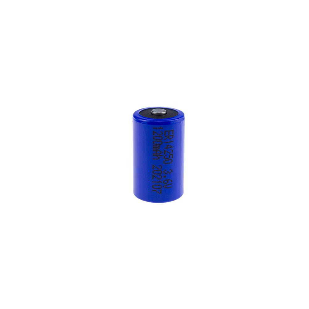 浩博ER14250大容量1200mAh可定制3.6V亚硫酰氯高低温电池生产厂家
