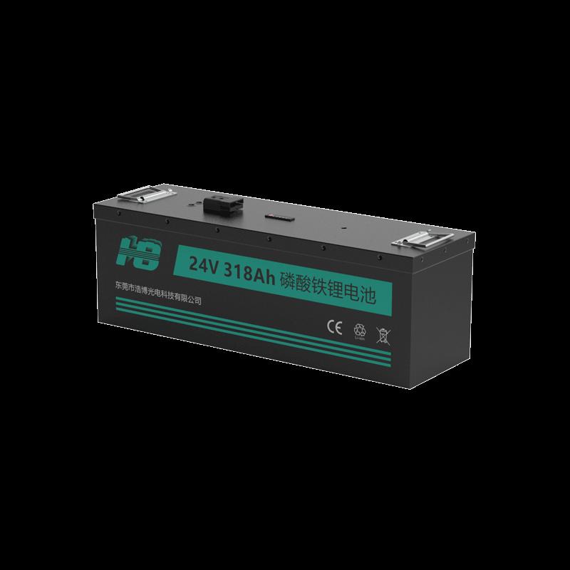浩博26650磷酸铁锂电池24V330Ah大容量定制游乐船动力电源生产厂家