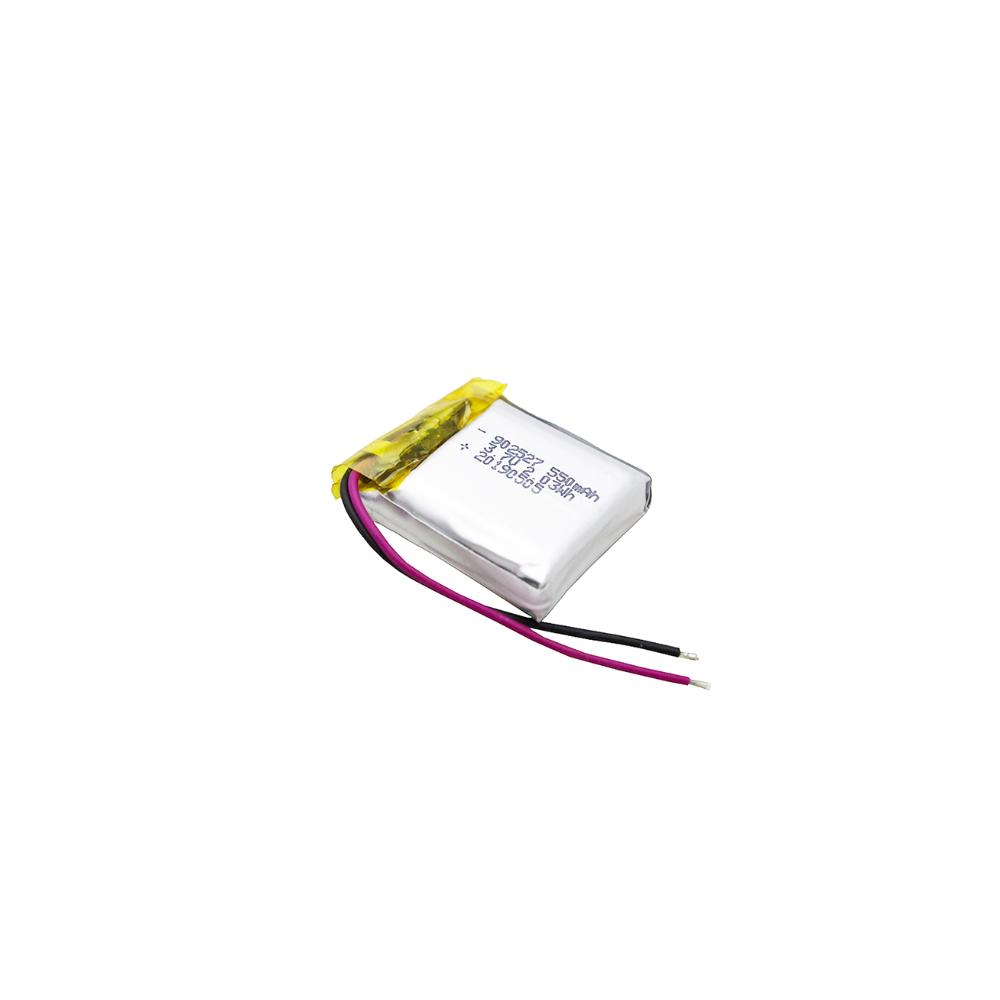 浩博902527聚合物锂电池550mAh节水器<em>电池</em>KC、CB、UN38.3认证<em>电池</em>